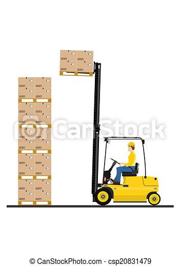Forklift - csp20831479