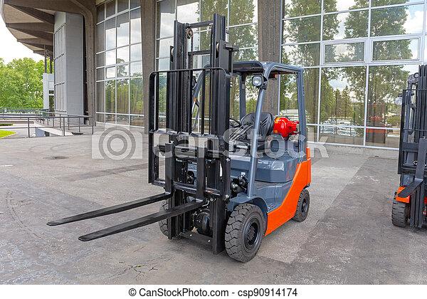 Forklift Outside - csp90914174
