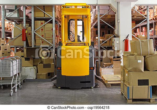 Forklift - csp19564218