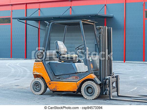 Forklift Truck Outside - csp94573394