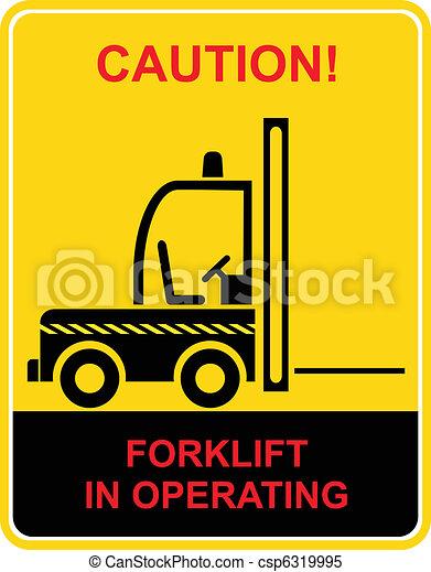 Forklift truck - sign - csp6319995