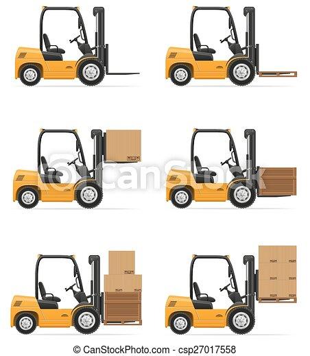 forklift truck vector illustration - csp27017558