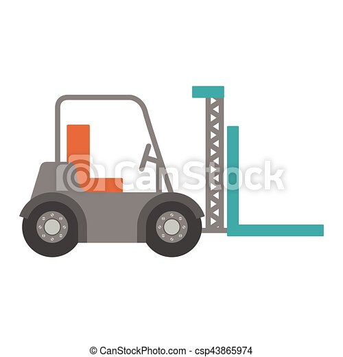 forklift truck with forks icon - csp43865974