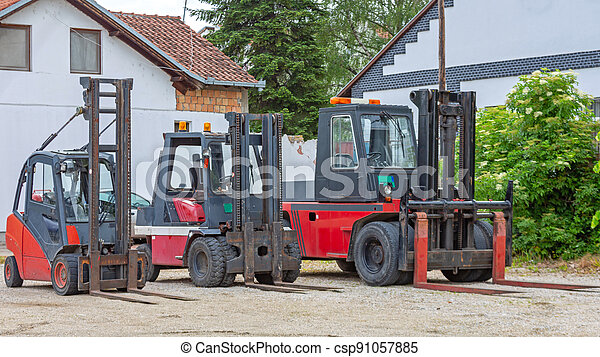 Forklift Trucks - csp91057885