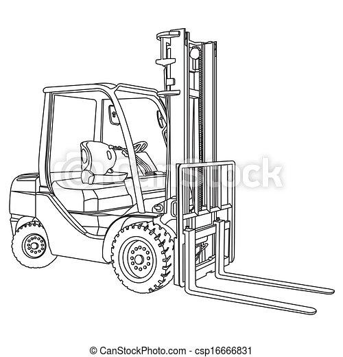 Forklift Vettore Contorno 16666831