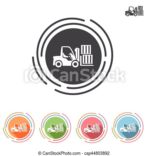 Forklifts icon in a flat style - csp44803892