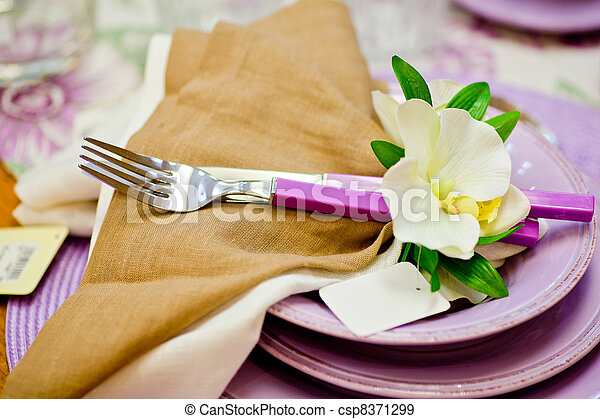 Forks and flowers - csp8371299