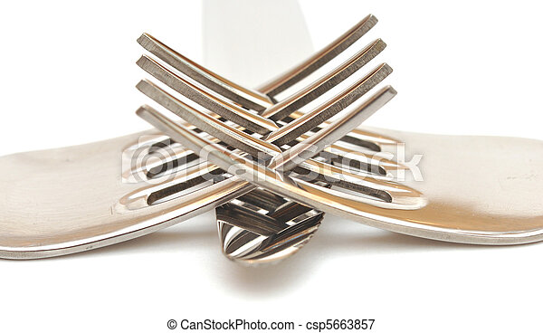 forks macro isolated on white - csp5663857
