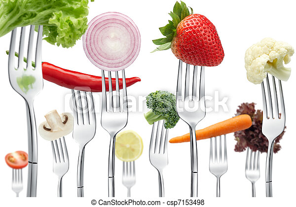 forks with vegetables - csp7153498