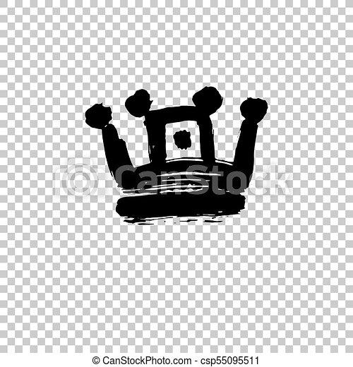 forma, colpi, corona, isolato, struttura, vernice, fondo, bianco, spesso - csp55095511