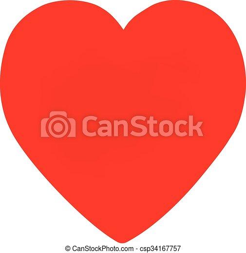 forma coração, vermelho - csp34167757