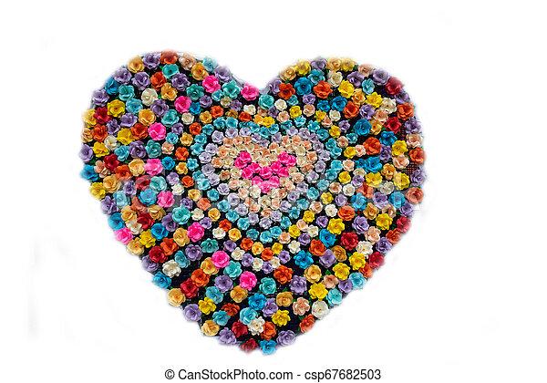Colorido de forma de corazón - csp67682503