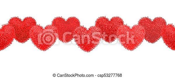 Elementos con pompones en forma de corazón - csp53277768