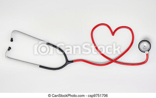 La forma del corazón del estetoscopio - csp9751706