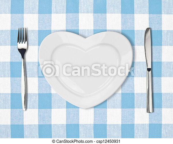 forma corazón, placa - csp12450931
