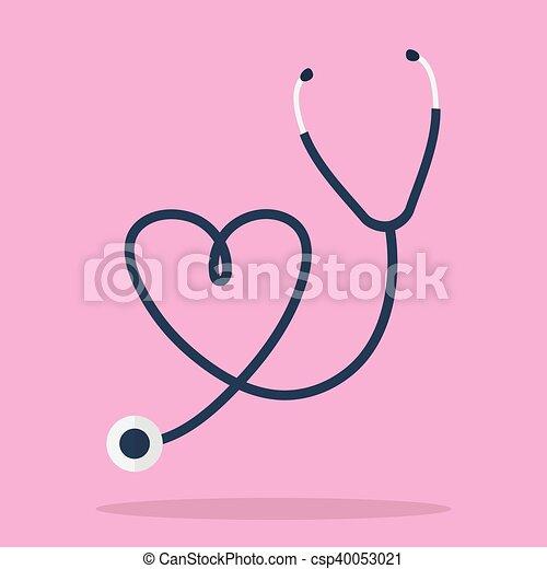 forma cuore, stetoscopio - csp40053021