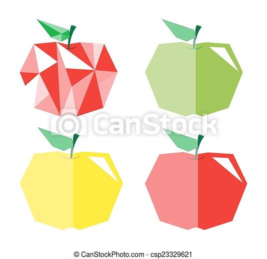 Forma, diamante, manzanas, colorido. Diseños, diamante, manzana ...