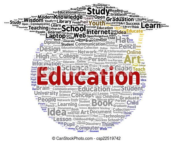 La palabra de educación en forma de nube - csp22519742
