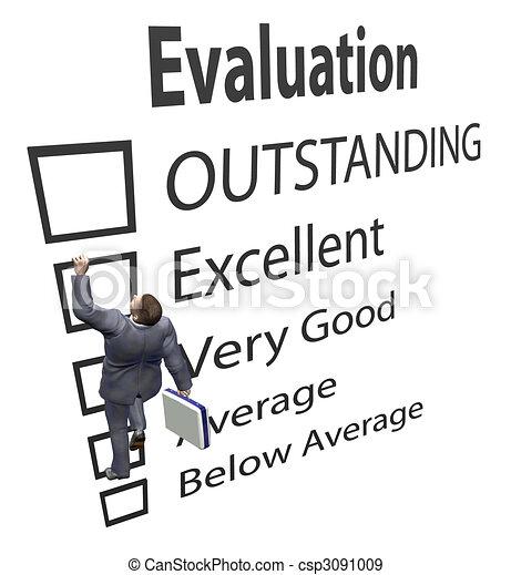 Los empleados de negocios suben la forma de mejora de la evaluación - csp3091009