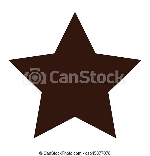 Un icono con forma de estrella - csp45877078