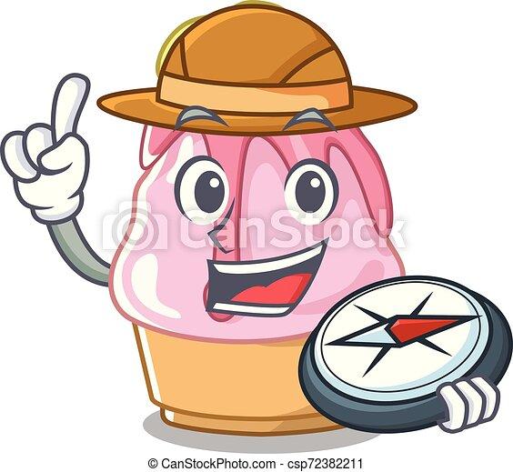 Explorer kakigori con la forma de dibujos animados - csp72382211