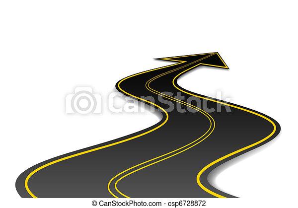 forma, freccia, strada - csp6728872