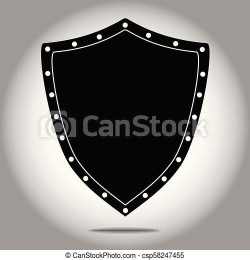 forma, pretas, escudo, ícone - csp58247455