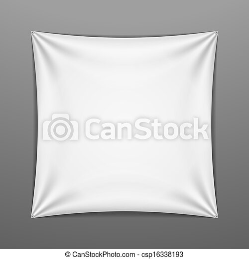 forma, quadrato, bianco, teso - csp16338193