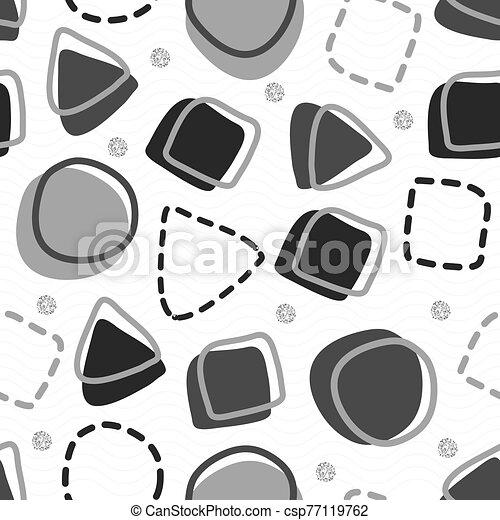 forma, seamless, patrón, plano de fondo, geométrico - csp77119762