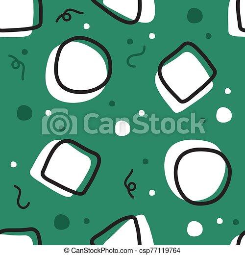 forma, seamless, patrón, plano de fondo, geométrico - csp77119764