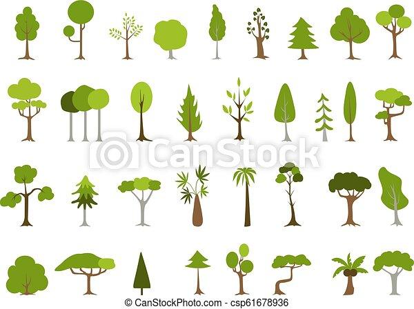 Árbol verde de una forma diferente. - csp61678936