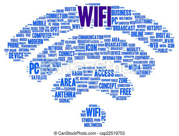 En forma de nube Wifi - csp22519753