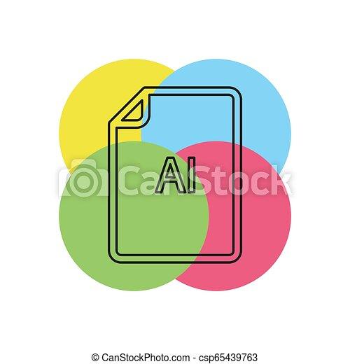 formaat, ai, -, vector, bestand, downloaden, document, pictogram - csp65439763