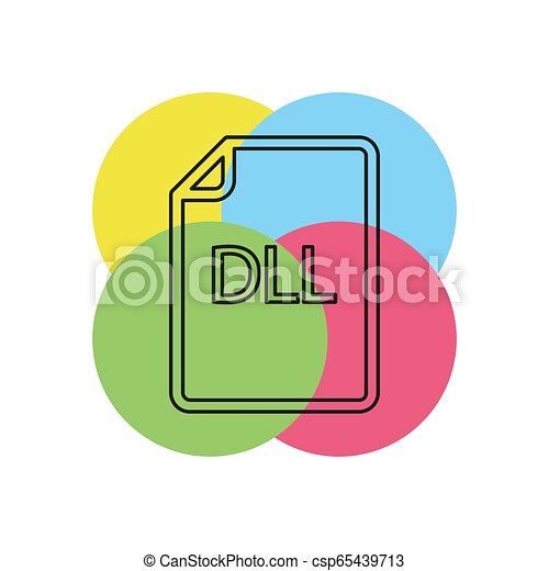 formaat, -, dll, vector, bestand, downloaden, document, pictogram - csp65439713