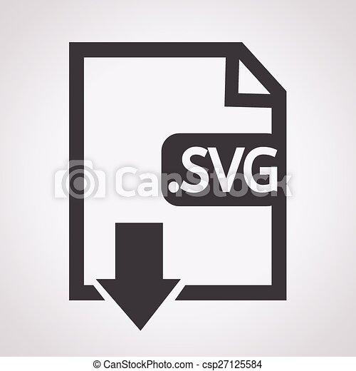formaat, svg, beeld, bestand, type, pictogram - csp27125584