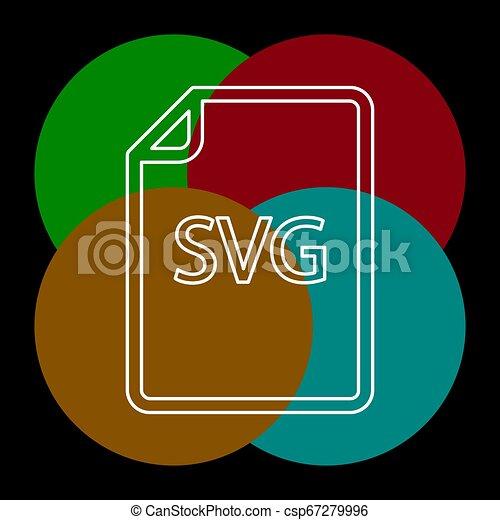 formaat, svg, -, vector, bestand, downloaden, document, pictogram - csp67279996