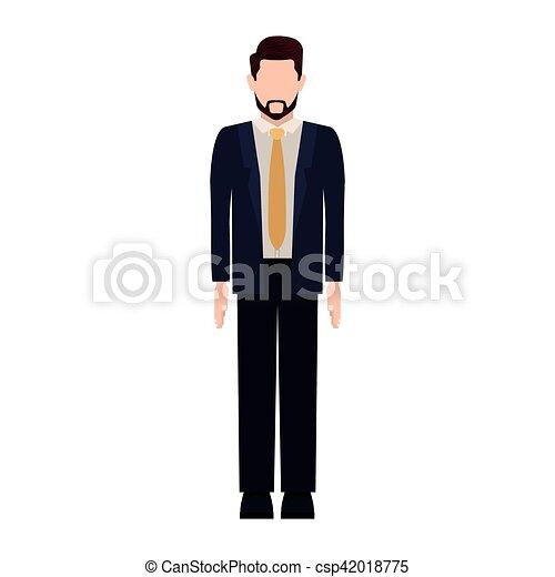 Traje formal hombre dibujo