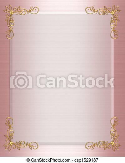 Formal Invitation border pink - csp1529187