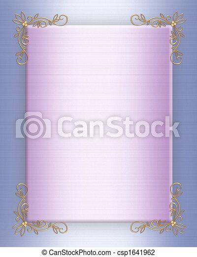 Formal Wedding invitation satin - csp1641962