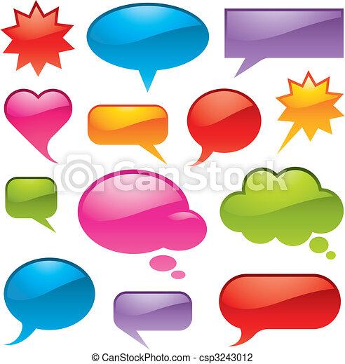 formar, färger, olika, bubblar - csp3243012