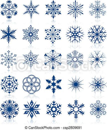 Las formas de Copo de Nieve marcan 2 - csp2809691