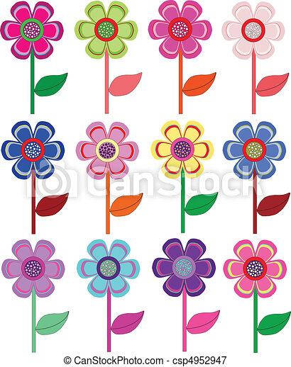 Dibujo Inconsutil Del Fondo Flores Color De Rosa Stock De