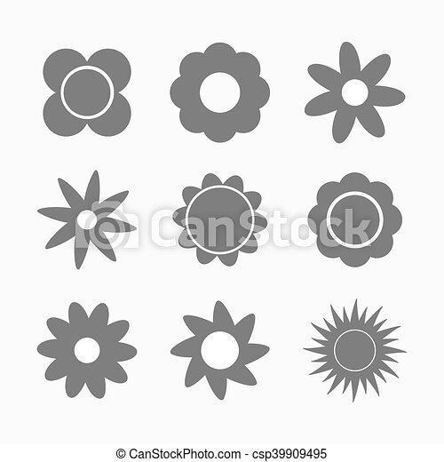 Formas de flores - csp39909495