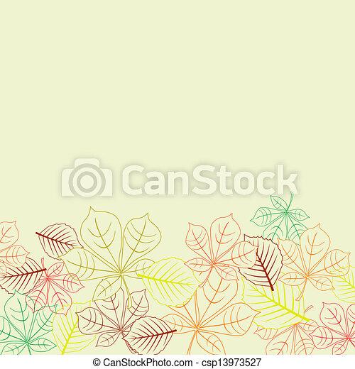 formas, folhas, outonal, fundo - csp13973527