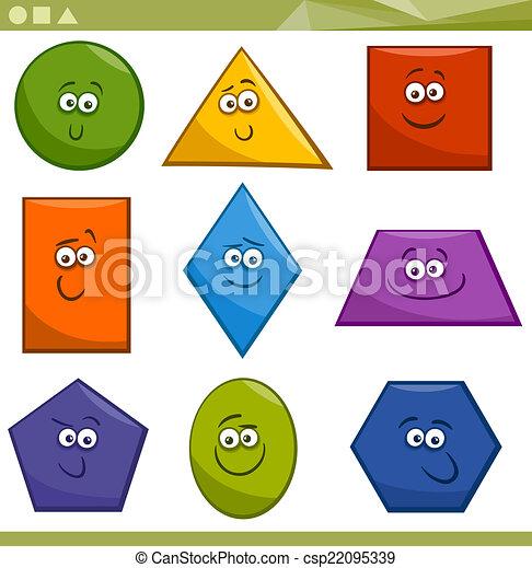 Formas geométricas básicas - csp22095339