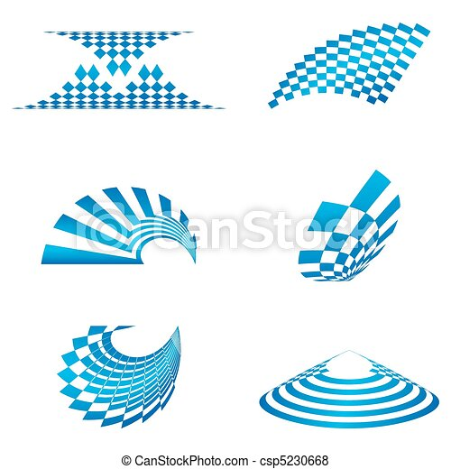 formas, logotipo, diferente - csp5230668
