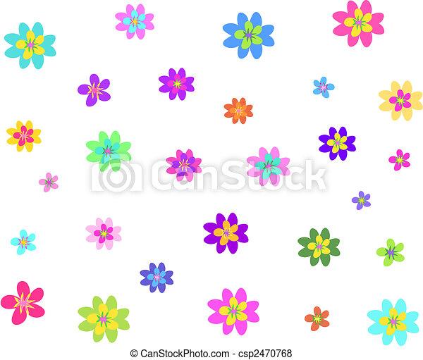 Formas Mezcla Diferente Flores Tamanos Diferente Sizes Aqui