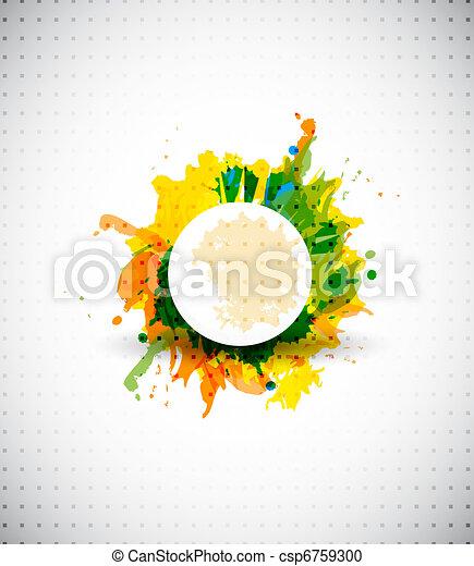 El vector abstracto da forma colorida de fondo - csp6759300
