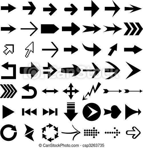 formas, seta - csp3263735