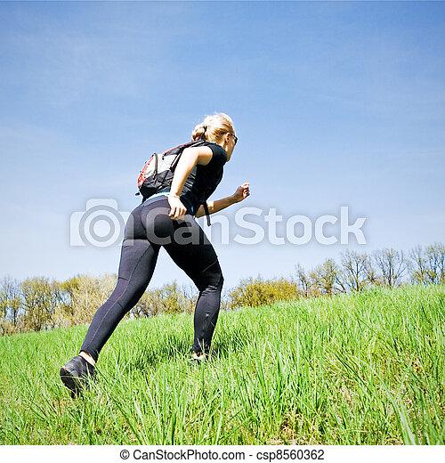 formation, marche femme, puissance - csp8560362
